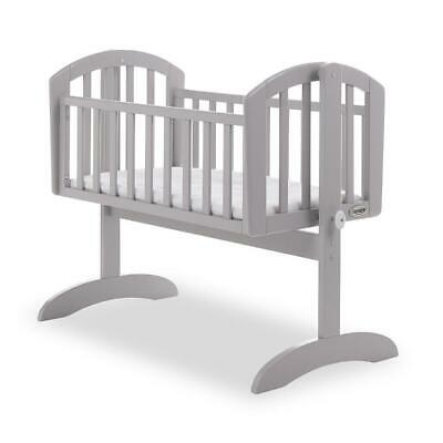 OBaby Sophie Swinging Crib (Warm Grey) With Gentle Rocking Motion