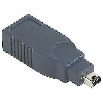HQ FireWire 4 Pin Male to 6 Pin Female IEEE 1394 Adapter - Black