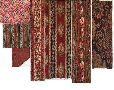 Beautiful 19th C. Printed  and Woven French Paisleys - 7 pieces (2182)