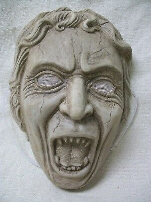 Licensed Dr Who Weeping Angel Costume Face Mask Creepy Old Stone Cracked Statue