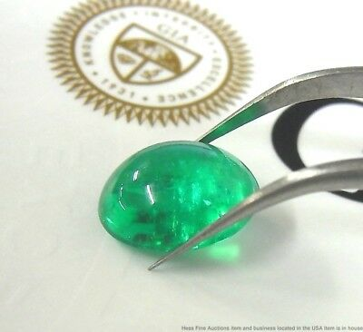 5.91 Carat Natural Columbian Emerald Exquisite Color w GIA Report