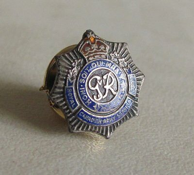 RCASC The Royal Canadian Army Service Corps Silver Lapel Pin WWII WW2