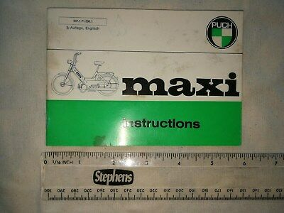 Genuine And Original Puch Maxi Instruction Book