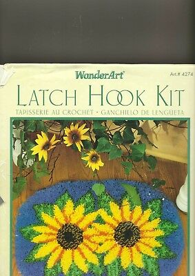caron sunflower latch hook kit