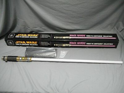 Star Wars Force Fx Mace Windu Attack Of The Clones Master Replica Lightsaber