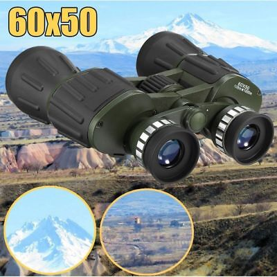 60x50 Zoom Day Night Vision Outdoor Travel HD Binoculars Hunting Telescope +Case