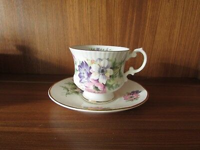 Elizabethan China Flower of the Month January~Anenome Miniature Cup & Saucer