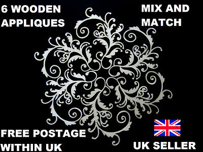 6 Furniture Appliques Shabby Chic Wooden Decorative Furniture  Moulding Onlay