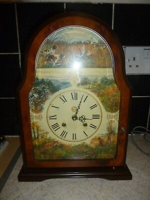 Beautiful Vintage FRANZ HERMLE Mantel or Wall Wooden Clock