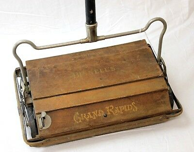 Antique BISSELL'S Grand Rapids Wooden Carpet Sweeper Cleaner