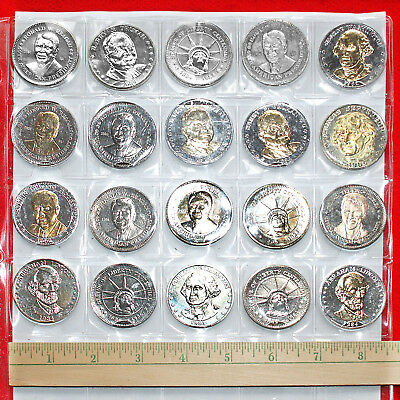 National Historic Mint Double Eagle Commemorative Coins (20 Coins) In Holder