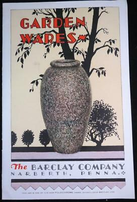 1920's Barclay Company Narberth PA Pottery Garden Wares Illustrated Catalog