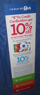 TOYS R US Exclusive Display Sign (Almost 5' Tall) CREDIT CARD Rewards Mastercard