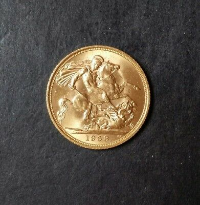 Great Britain 1958 Gold Sovereign Elizabeth Brilliant Uncirculated