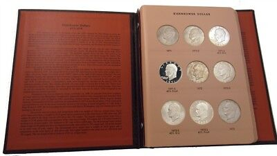 Complete 1971-1978 Eisenhower Dollar Set - All BU/Proof -32 Coins, Silver Issues