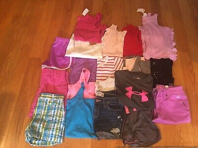 NWTS/EUC Girls lot of 19 Spring/Summer clothes SZ10-12 Justice, Abercrombie Kids