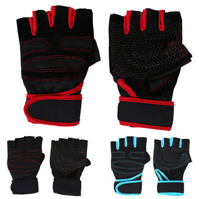 Fashion Men Training Gloves Gym Fitness Wrist Wrap Weight Lifting Sport M~XL NEW