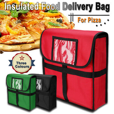 "Insulated Pizza Food Delivery Bag Moisture Free Pizza Boxes Storage 13""x 13"""