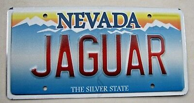 "Nevada Vanity License Plate "" Jaguar "" Xke Xk Xj  Jag British Sports Car Uk"