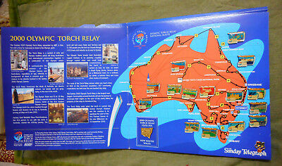 #Ww.  Sydney 2000 Olympic Torch Relay Pins &  Album