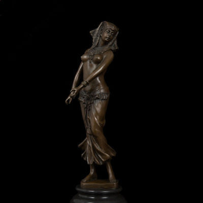 Art Deco handmade Sculpture Cleopatra Beauty Bronze Copper Statue