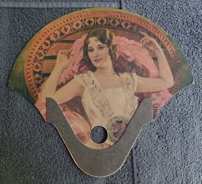Vintage Advertising Hand Fan Victorian Lady Star Clothing Easton PA