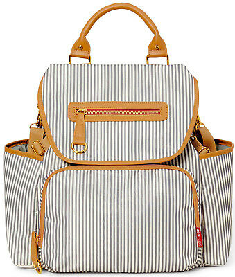 Skip Hop Grand Central Baby Diaper Bag Backpack w/ Changing Pad French Stripe