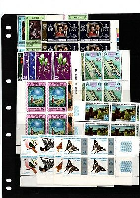 NEW HEBRIDES-FRENCH issues  (  Now VANAUTU ) COLLECTION 19  sets Blks/4's  MNH