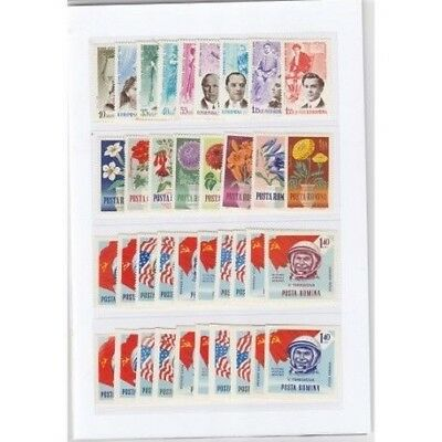 1964 Romania Year Complete Year Set 138 Values - 4 Bf Mnh Mf17951