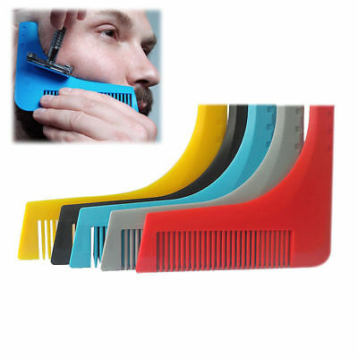 Facial Beard Shaping Trim Template Modeling Comb Hair Cutting Guide Tool