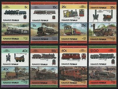 Tuvalu - Funafuti 1984 - Mi-Nr. 21-36 ** - MNH - Lokomotive / Locomotives