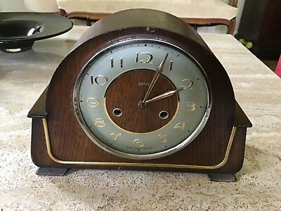 Vintage Smiths Floating Balance Mantle Clock With Chimes For Restoration
