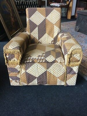 Vintage Childs Chair On Caster Wheels Re upholstery Project