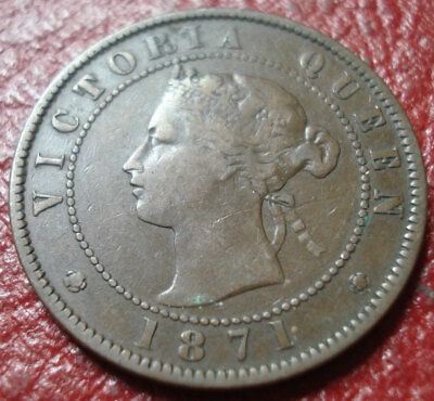 1871 Prince Edward Island Large Cent In Vg-Fine Condition