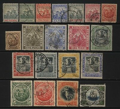 Barbados Collection 20 Early Stamps Used