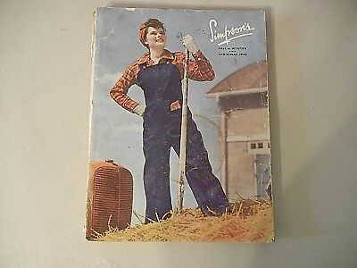 VINTAGE  1942  SIMPSONS   FALL   AND  WINTER / CHRISTMAS   CATALOG - 412   pages