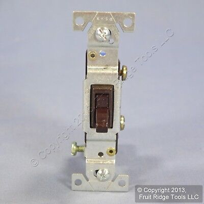 Eagle Brown Single Pole Framed Quiet Toggle Wall Light Switches 15A Bulk 1301-7B