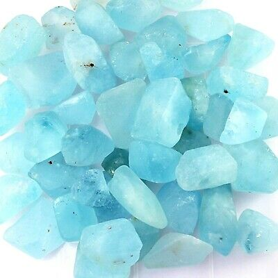 Lot of Natural Earth Mined Brazilian Blue Topaz Gemstone Rough For Facet-Cabs