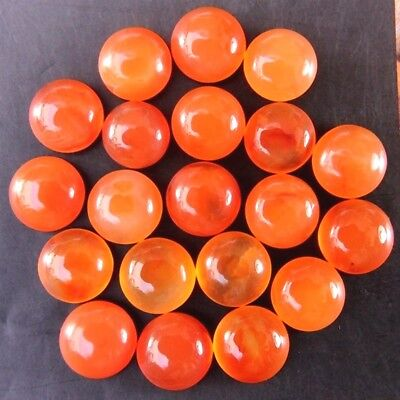 Wholesale Lot of 5mm Round Cabochon Natural Carnelian Loose Calibrated Gemstone