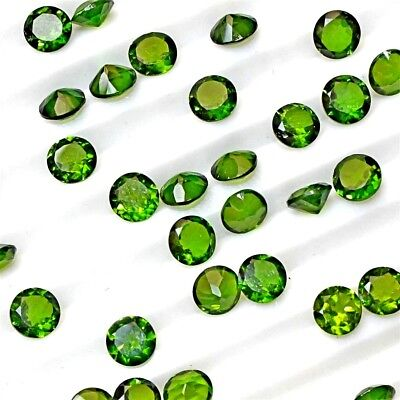 Wholesale Lot 2mm to 5mm Round Faceted Chrome Diopside Loose Calibrated Gemstone