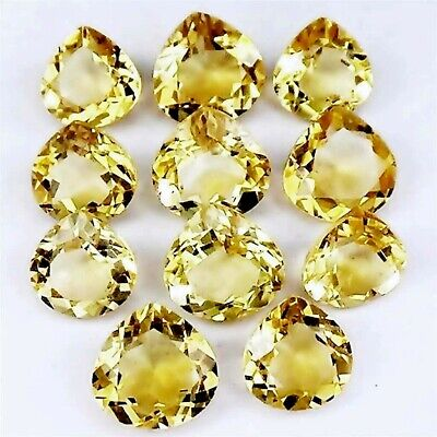 Wholesale Lot of 6mm Pear Facet Cut Natural Citrine Loose Calibrated Gemstone