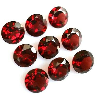 Wholesale Lot 6mm Round Cut Natural Mozambique Garnet Loose Calibrated Gemstone