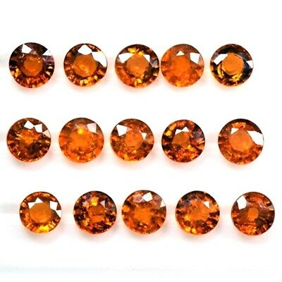 Lot of 3mm to 5.5mm Round Natural Spessartine Garnet Loose Calibrated Gemstone