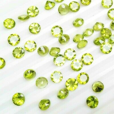 Lot of 3.0mm to 3.8mm Round Facet Cut Natural Peridot Loose Calibrated Gemstone