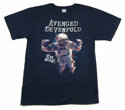 Avenged Sevenfold The Stage Navy Blue T Shirt New Official A7X Merch