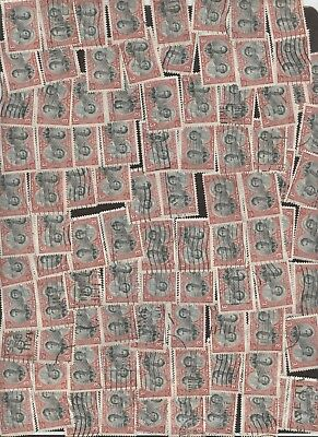 Stamps Canada # 248, 3¢, 1939 lot of 100 used stamps.
