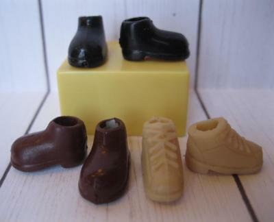 """4"""" FASHION POLLY POCKET Rick BOY DOLL Clothes-3pr sft squishy Prince Boots Shoes"""