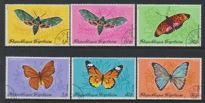 Togo - 1970, Butterflies & Moths set - F/U - SG 764/9