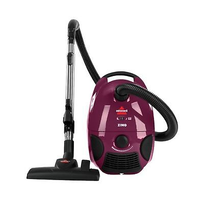 Bissell Zing Bagged Canister Vacuum, Maroon, 4122 - Corded Vacuum Only New
