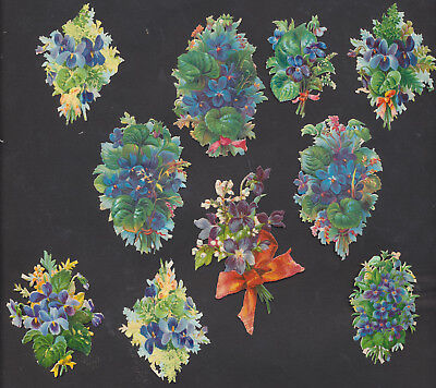 S4113 Victorian Die Cut Scraps: 10 Bunches of Lilac